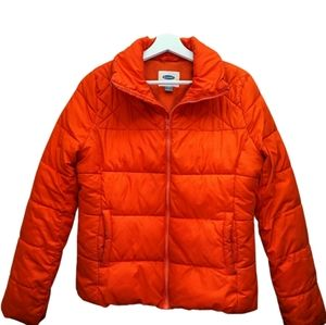 OLD NAVY Boys Puffer Winter Jacket Neon Small